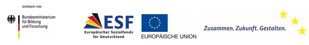 Förderleiste BMBF ESF EU